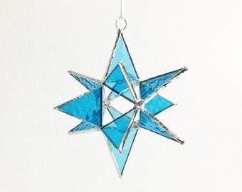 "12 Point Moravian Star. Blue Star. 4,5"""