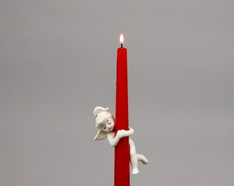 Holt Howard Pony Tail Angel Candle Climber, Candle Hugger with Foil Label
