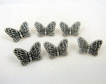 Metal Butterfly Button 20mm x 15mm