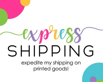 Express shipping add-on for printed goods