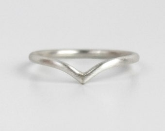 Silver Bird Ring, Seagull, Stacking Ring in Sterling Silver or Gold