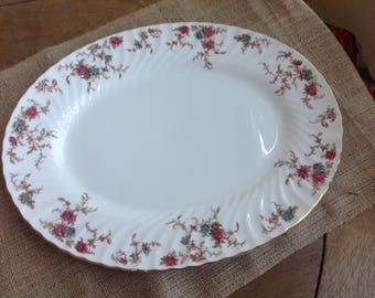 """Gorgeous Minton Ancesthal BOne China Serving Platter Made in England 15"""" Long"""