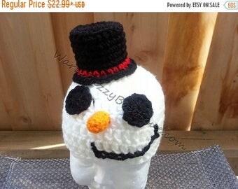 SALE 20% OFF Baby Mr. Snowman Hat Crochet - Newborn NB Beanie Boy Girl Costume Halloween  Costume Photo Prop Christmas Gift Winter Outfit