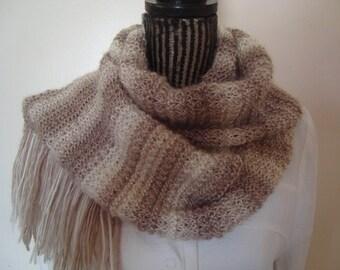 Knitting  pattern PDF- Knit Women's Multicolor Scarf-Download PATTERN -Diy-Online PDF Knitting Patterns-Level Easy