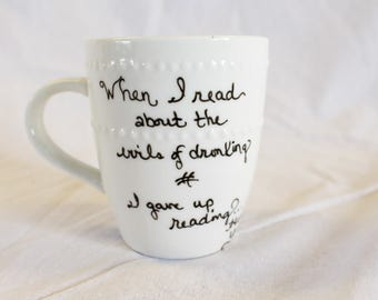 Got Whiskey's Custom Handpainted Coffee Mug-Henny Youngman Quote-Celebrity mug-Whiskey drinker
