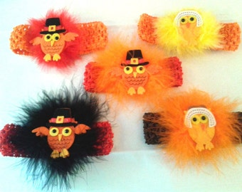 Hoot Hoot I'm SO Cute Owl Fall-Thanksgiving Pilgrim Headbands ...Newborn,Infants and some Toddlers..Thanksgiving, Photo Prop,Dog Accessory