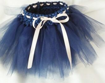 Dog Navy Blue Tutu, Dog Blush Pink Tutu Wedding Tutu Dress -  Bridesmaid navy blue,, Pet Wedding Dress , Small Dog Only