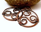 Copper Wire Jewelry Wire Wrapped Jewelry Handmade Copper Wire Earrings Copper Earrings Copper Jewelry Western Jewelry Oxidized Copper