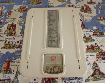 Retro Cream Borg Kitchen Scale With Housekeepers Chart, Food Scale, Dial Lock & Calibrating Knob Circa 1950's