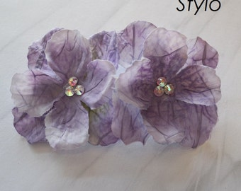 Lilac Flower bobby pin Hair Clip