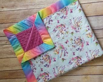 Tinkerbell minky blanket, disney baby blanket, tinkerbell baby blanket, disney nursery,  tinkerbell blanket