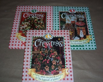 Gooseberry Patch Christmas Books...3 Collectible Holiday Craft & Food Hardcover Books...Books 1, 2, and 6....