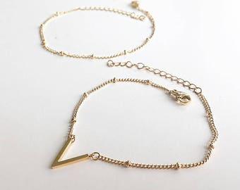 Chevron bracelet, multi layer bracelet, multi strand bracelet, simple gold bracelet, Delicate silver bracelet, Delicate gold bracelet,