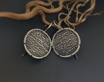 Sterling Silver branches Dangle Earrings
