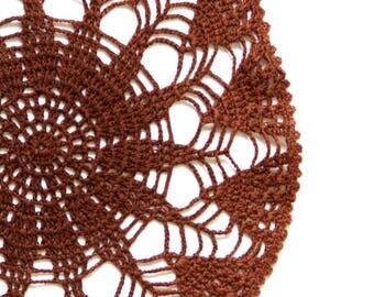 Brown Crochet Vintage Doily doily