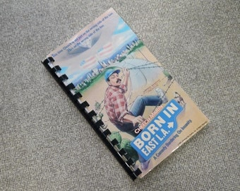 Handmade Born in East L.A. Cheech Marin 1987 Repurposed VHS Cover Notebook Journal