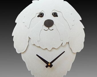 Havanese Dog Art - Havanese Dog Clock - by Anita Edwards