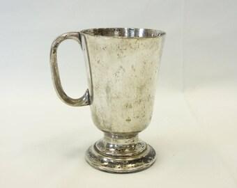 Silver Plate Tankard, Pint Silver Mug, Vintage Australian Silver, Desk Storage Organization