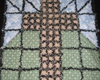 Old Ragged Cross Rag Quilt Pattern Digital Download by Sew Practical, Mom and Pop Craft