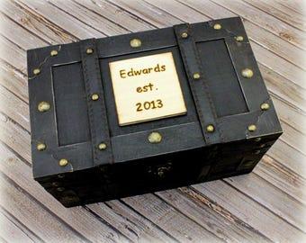 Keepsake Box Memory Box Trunk Time Capsule Treasure Chest Anniversary Box (LARGE)