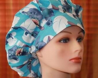Scrub Hat, Bouffant Surgical Scrub Hat/Chef Hat/Scrub cap/Scrub Hats, Scrub Cap--Stitch