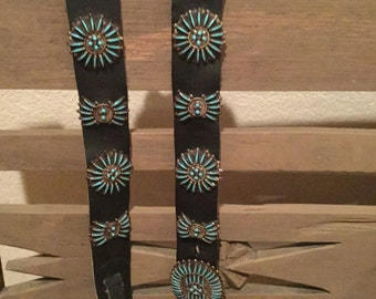 Leather belts, Navajo Belts, museum piece,turquoise belts,free ship, western belts, Zuni turquoise,Western wear, boots, Indian collectables