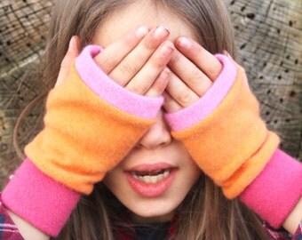 GIRLS  Cashmere Fingerless Gloves, Girls gloves fingerless, Gift for Girls, present for girls, gift for child