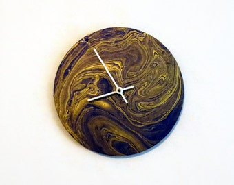 Wall Clock, Gold & Purple Mulberry Wall Art, Home and Living, Home Decor, Decor and Housewares