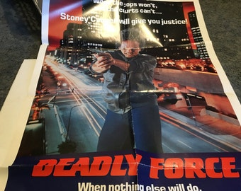 deadly force movie poster 27 by 40