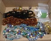 Antique / Vintage Glass Bead Lot Jewelry Repair Design Craft Repurpose Destash Art Deco Czech