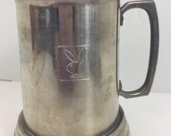 Vintage Playboy Aluminum Mug Metal Beer Steins Tankard Metal Cup