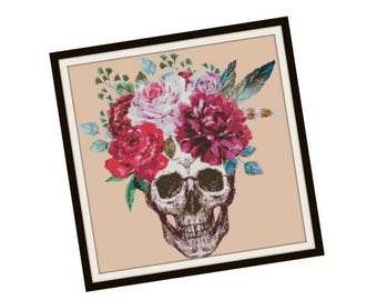 PATTERNPALOOZA STOCK UP Day of the Dead Cross Stitch Pdf - Skull Cross Stitch Pattern -  Fantasy Cross Stitch Pattern