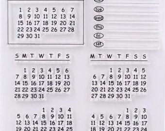 Rubber Stamps Calendar Stamp- Travel Stamps