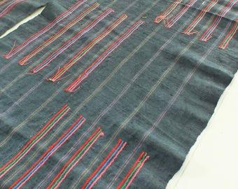 4 yards, Hmong  hemp Vintage fabrics and  textiles - Handwoven hemp-ethnic textiles from thailand