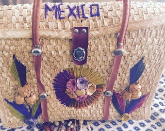 2 Mexico Straw Bags