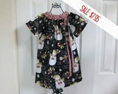 SALE  -  Peasant Dress  -  CHRISTMAS DRESS - Holiday Dress  - Toddler Girls  -   18  Months Dress -  Ready to ship  By Emma Jane Company