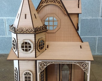Scale One Inch, The Gothic Revival Victorian Cottage, 1:12 Scale, SHIPS WORLDWIDE
