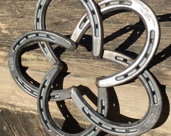 Solid Steel Horseshoe Star