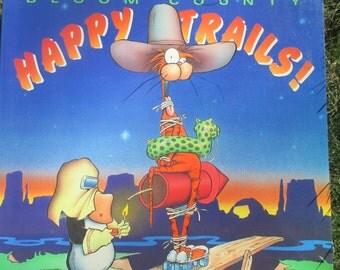 Vintage Bloom County Happy Trails Comic 1990 Berke Breathed