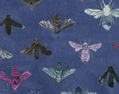 Dreamer by Carrie Bloomston for Windham Fabrics - Save the Bees - Denim Blue - FQ - Fat Quarter - Cotton Quilt Fabric 417