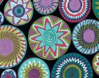 Tribal by Snow Leopard Designs for Free Spirit - Bharati - Amazon Black -  FQ - Fat Quarter - Cotton Quilt Fabric
