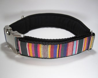 Padded and Adjustable Dog Collar, Size L, 42-50 cm, large dog collar