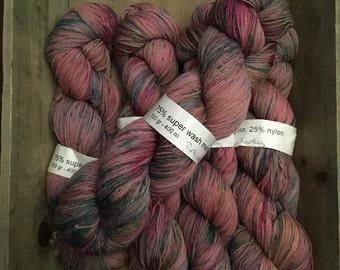 Sox - 75/25 super wash merino/nylon -A variegated Sox - Pink and Funky