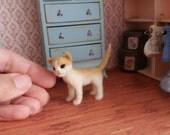 Needle felted cat - OOAK, needle felted kitten, collectible cat, miniature cat, felt kitten, felted animal, felt cat, art toy, felted cat