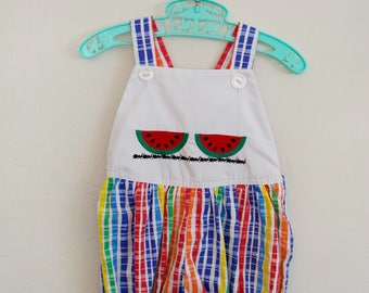 Vintage Romper Rainbow Watermelon by Rags from Richards
