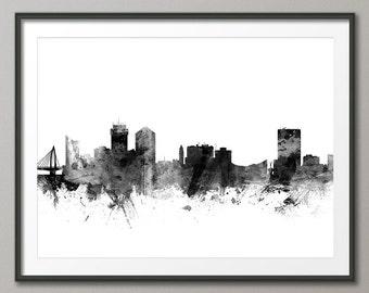Wichita Skyline, Wichita Kansas Cityscape Art Print (2581)