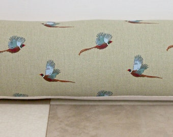 Draught Excluder - Sophie Allport Pheasant Fabric