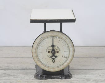 Antique Kitchen Scale Pelouze Family Scale, American Scale, Made In Chicago, Black Scale