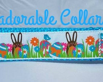 Easter Dog Collar Easter bunny and eggs Easter Dog Collar