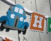 Blue Truck Banner/Little Blue Truck Birthday Banner/1st Birthday/ Truck Garland/Custom Made Banner/ Truck Party/ Truck Decor/Truck Party
